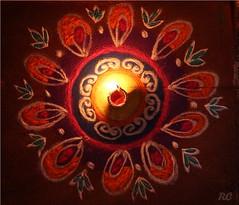Rangoli (rohitxi) Tags: color deep diwali kolam rangoli
