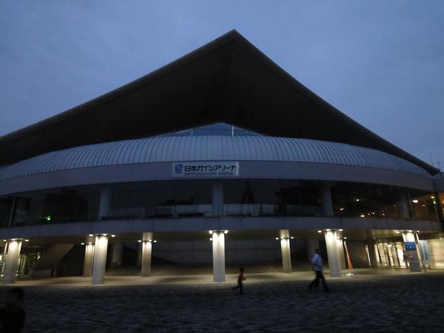 外に出るとすっかり日も暮れていました。|日本ガイシスポーツプラザ ガイシアリーナ