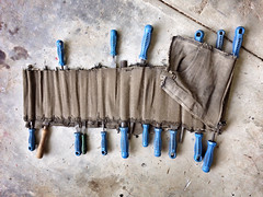 levi's size 30. the year 1982, i was 22. afterwards the jean became a wood/steel file holder. (francois f swanepoel) Tags: blue file jeans levis metalfile