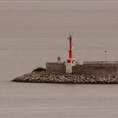 Faro dique (David S.M.) Tags: faro mar bn duotone mallorca palma duotono ringexcellence