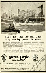1920 Ad Ives Toys 195 Holland Ave Bridgeport CT Steel Boat Models Childrens Art (oldsailro) Tags: 1920 ad ives toys 195 holland ave bridgeport ct steel boat models childrens art model yacht pond sailboat children boy girl beach waves sunshine playing fun water summer time sun sea toy wooden ship miniature antique old vintage lake pool regatta adolescence fashioned park people spectators watercraft youth group sailing race mast boom keel hull child