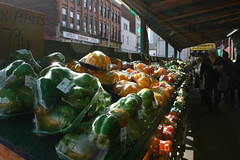 Peppers [Explored 12/5/13] (Flint Foto Factory) Tags: thanksgiving city november autumn red urban green fall vegetables yellow flickr paradise pittsburgh afternoon forsale bell farmers market pennsylvania district saturday fresh explore sidewalk cents strip week 1800 peppers produce per pound steelers 79 catering primantis pennave explored 2013 schorin