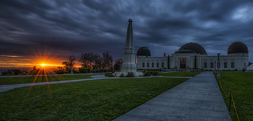 Winter Sunrise At Griffith Observatory