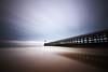 On Calais Beach (Tony N.) Tags: longexposure sky lighthouse france reflection beach clouds pier sand sable reflet ciel nuages nordpasdecalais plage phare calais nord filé wetsand pasdecalais estacade sigma1020 poselongue d110 sablemouillé d300s 263sec
