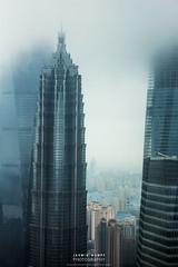 three great towers (water wasser) Tags: world china tower shanghai jin center mao  pudong financial  shnghi dsh   zhngxn hunqi jnrng jnmo