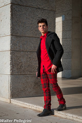 Black & Red (Walter Pellegrini) Tags: winter red walter portrait italy black rome roma fashion model nikon italia moda eur mode samuel ritratto pellegrini d700 donnarumma