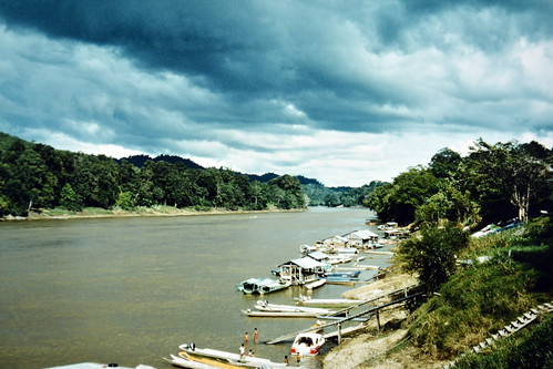 Borneo - Rajang River (562,5 km) - Kapit Jetty