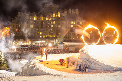 Fire and Ice show on New Years Eve (GoWhistler) Tags: winter whistler village event newyears fireandice