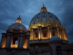 The dome (Daniel Pietzsch) Tags: italy storm vatican rome st night lumix photos g basilica peters lazio stpetersbasilica vaticancity dmcgf1 14f25 lumixg14f25 viadellastazionevaticana