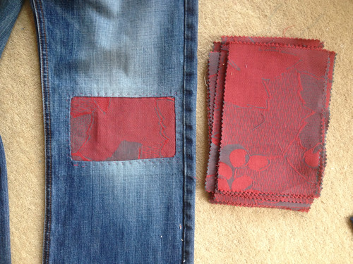 Jeans repaired plus Boussac samples