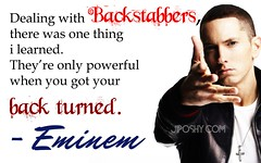 EMINEM BACKSTABBERS FRIENDS FAKE ENEMIES QUOTES LIFE INSPIRATIONAL JIPOSHY WALLPAPER