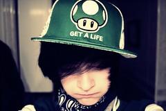 Glup. (NathanS_) Tags: camera boy cute me girl nikon smoke mario rap tomboy lgtb snapback tomboystyle d3100