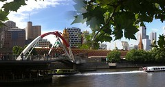 Melbourne Yarra river (bigshotdigital) Tags: autostitch oz australia melbourne downunder iphone bikehire iphotography vision:outdoor=0948