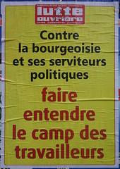 Contre la bourgeoisie (emmanuelsaussieraffiches) Tags: poster political politique affiche lutteouvrire