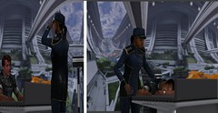 Office Espionage (Jon_Waggoner) Tags: original art up work fan poser 3d sam ashley diana joker knocked characters tied thane samantha mass effect normandy carry peril shepard unconscious carried kidnapped daz chloroform koed kaidan abducted allers shenko traynor chloroformed femshep morinth