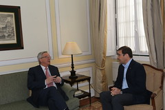 Pedro Passos Coelho recebe Jean-Claude Yuncker na Sede Nacional