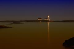 Homborsund Lighthouse I (Ludvius) Tags: sunset sea lighthouse norway night coast norge fyr homborsund sjø grimstad fyrlykt ludovicophotography wwwludovicphotocom wwwludovicophotocom