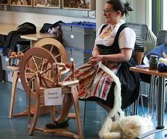 Spinning! (IMG_1677) (Robert G Henderson (Romari).) Tags: life rural scotland may nms eastkilbride 2014 lanarkshire woolyweekend