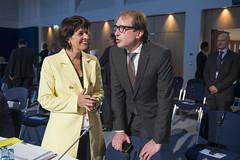 Doris Leuthard and Alexander Dobrindt conversing