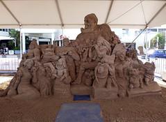 Say cheese! (Sculptures Susanne Ruseler) Tags: sculpture snow ice animal sand sculptuur carving anatomy figure sculptor carven sculpturen
