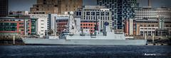 HMS DAUNTLESS at Liverpool Waterfront Panorama. (Aurora2000photo) Tags: liverpool warship hmsdauntless