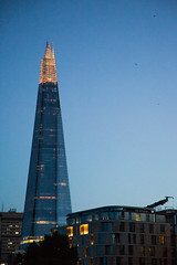 Shard - London (MoreToJack) Tags: blue buildings city evening landscape lights london theshard twilight dusk