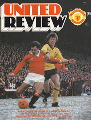 Manchester United vs Aston Villa - 1980 - Cover Page (The Sky Strikers) Tags: new old manchester united villa trafford aston butch wilkins decade