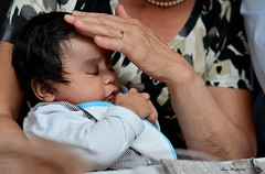 ° Prays for grandma (° Ivan) Tags: baby hands warm child grandmother sweet pray bebe lovely protection caress affectionate prays peruvian