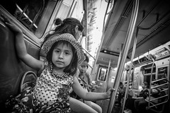 Little One On The Train (rockerlan) Tags: people urban eye train underground subway photography one photo little sony places passenger contact on the rx100
