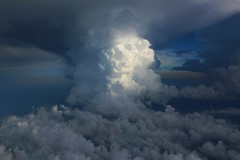 Cumulonimbus cloud in the sky (Rachel219) Tags: sky cloud storm nature weather clouds plane view flight science thunderstorm convection mothernature meteorology cumulonimbus tstorm summerstorm coolweather bestofnature flickraward