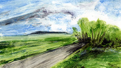 route 42 (Frdric Glorieux) Tags: frdricglorieux art peinture painting acryl a4 france route road