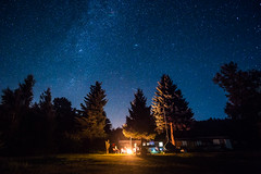Stars above the camp (Steffen Walther) Tags: canon stars milkyway camping camp fire lagerfeuer bleilochstausee thringen bleiloch thuringia trees outdoors outside cozy thringermeer canon5dmarkiii