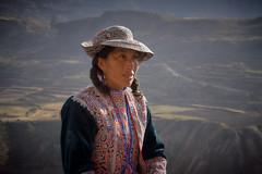 Woman in Typical Attire, Colca, Peru (szeke) Tags: 2007 colca hat landscape mountain people peru portrait travel woman