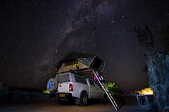 Camping Under the Stars (C McCann) Tags: sossusvlei namibia camping stars under milkyway longexposure truck tent rooftop campsite laundry sky night nighttime africa afrika