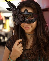 """""""The Beautiful Masquerade"""". Model - Lily. At the Laginitas Beer Circus event in Azusa, CA. (c) SJS Photography -  2016 (SJS Photog) Tags: instagramapp uploaded:by=instagram mask masquerede girl woman beautiful sel50f18 sony a6000 ilce6000 portrait black face smile brunette circus fair street sooc costume alpha eyes hair straightoutofcamera lagunitas beercircus azusa california"""