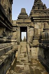Temple walkway (A. Wee) Tags: yogyakarta prambanan indonesia  unesco world heritage