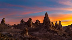 Mission to Mars (Darkness of Light) Tags: tronapinnacles ridgecrest deathvalley highdesert sunset tufas
