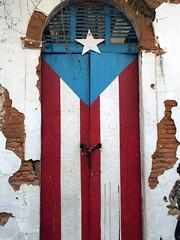 puertorrican flag (lolamorena) Tags: old san juan door puerta puerto rico beautiful art flag bandera arte pintura painting
