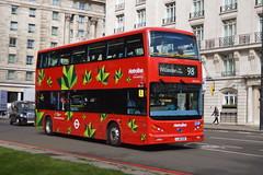 Electric Bus LJ16 EZR (BYD 1475) Metroline London (hotspur_star) Tags: londontransport londonbuses londonbus londonbuses2016 tfl transportforlondon hybridbus hybridtechnology metrolinelondon lj16ezr byd1475 98 busscene2016 doubledeck byd