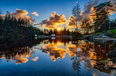 Eivindsvatnet, Norway (Explored) (Vest der ute) Tags: norway rogaland haugesund djupadalen reflections mirror waterscape landscape water trees clouds fav200 fav25