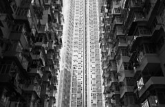 """""""the jungle"""" (hugo poon - one day in my life) Tags: xt2 23mmf2 hongkong quarrybay yickfatbuilding kornville city wall concretejungle architecture 70s yickcheongbuilding buildingcomplex"""