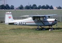 Cessna 150B at Manston in '93. (N48284) Tags: cessna c150b garzx manston aviation andrewmorley canon canoscan9000f