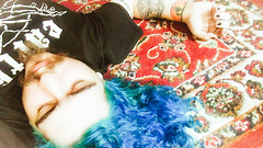 dream. (ttiinnggoo) Tags: lg g4 lgg4 selfportrait dreamy rugthattietheroomtogether dream pastel indoor tattoos bluehair moustaches alt