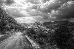 Calvello (Angelo Petrozza) Tags: calvello hdr basilicata lucania blackandwhite biancoenero bw high dynamic range pentax clouds nuvole paesi