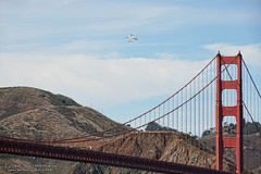 Blue Angels and the Golden Gate Bridge (Lisa Simpson Photography) Tags: 2016 airplane airshow autumn bayarea blueangels bridge california crissyfield digitalwonderlandphotography fa18hornet fall fleetweek goldengatebridge jet lisasimpsonphotography military navy october sanfrancisco usa