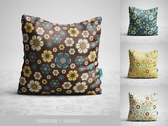 Pattern design for throw pillows (Slanapotam) Tags: pillow flower floral floralpattern patterndesign surfacedesign slanapotam throwpillow pillowcase patterned retro