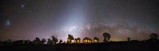 Milky Way setting above ALMA
