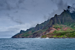 NaPali Coast of Kauai (AgarwalArun) Tags: sonya7m2 sonyilce7m2 hawaii kauai island landscape scenic nature views mountain fog clouds storm napalicoast pacificocean ocean water waves surf napali ruggedcoastline cliffs