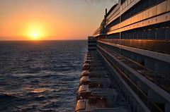 Sunset At Sea (Vintage Alexandra) Tags: queen mary 2 ship ocean liner cunard maritime transatlantic crossing sunset nature qm2