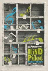 Blind Pilot at The Fillmore (withayou) Tags: thefillmore blindpilot illustration graphicdesign design poster gigposter margaretglaspy sanfrancisco silkscreen screenprinting typography typedesign